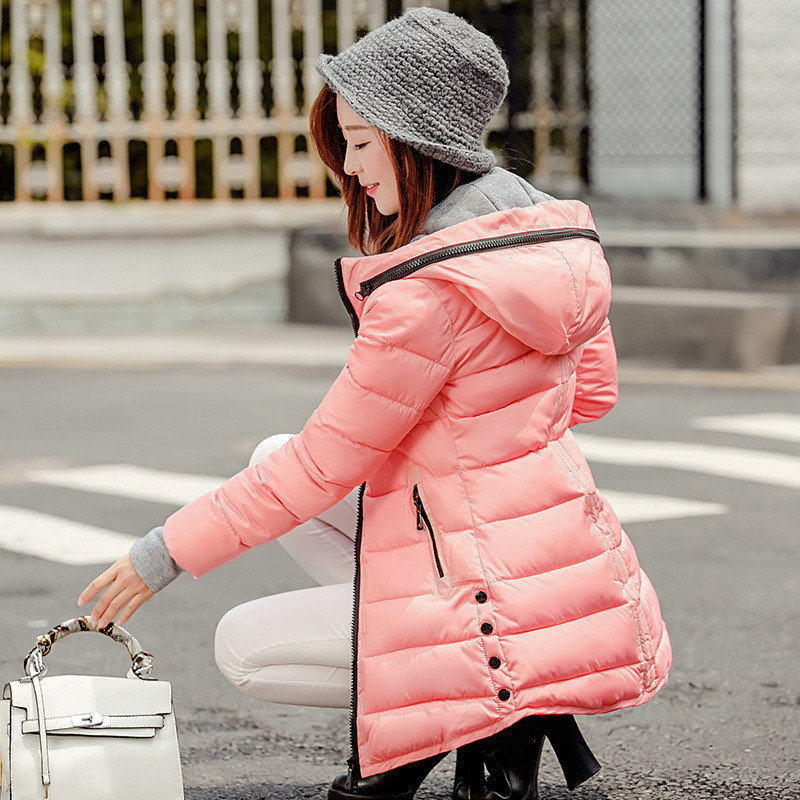 Winter New Women's Jacket Fashion Slim Down Cotton Coat Plus Size Parkas Warm Jackets Female Hooded  Casual Wadded Coats C1181 new winter light down cotton coat women long design hooded jackets casual slim warm jacket coats parkas female outwear qh0454