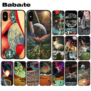 Babaite Trippy Art aesthetic Space astronaut Luxury Unique Design Phone Cover for iPhone 5 5Sx 6 7 7plus 8 8Plus X XS MAX XR image