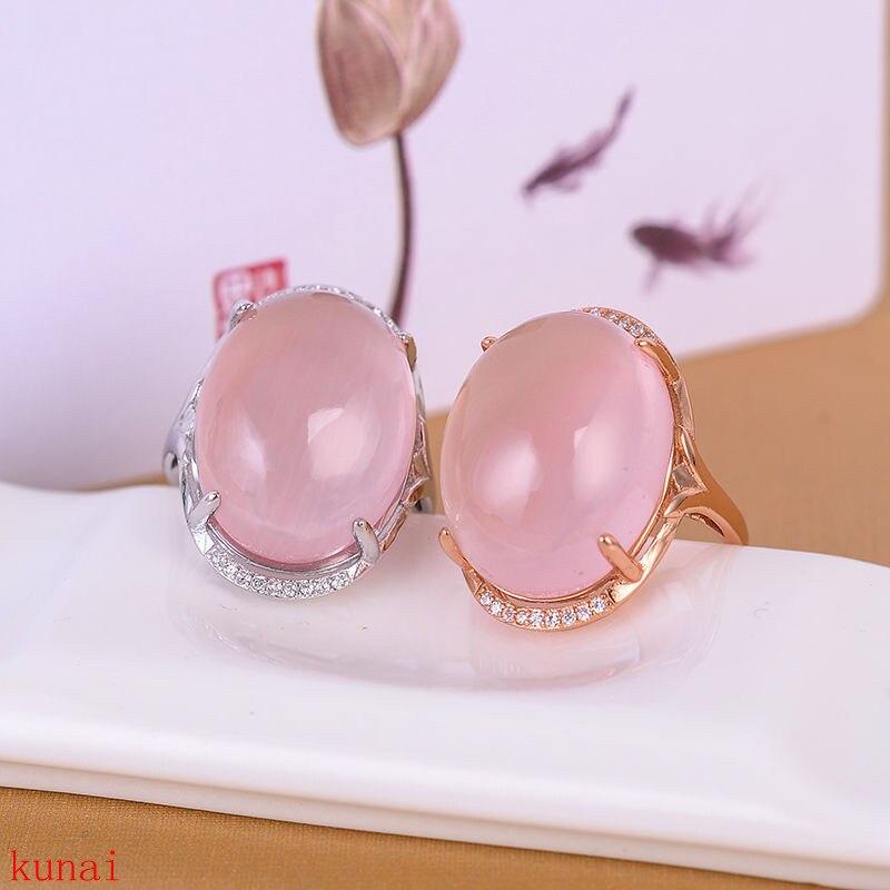 KJJEAXCMY bijoux fins 925 argent incrusté de bijoux en cristal de poudre naturelle anneau.