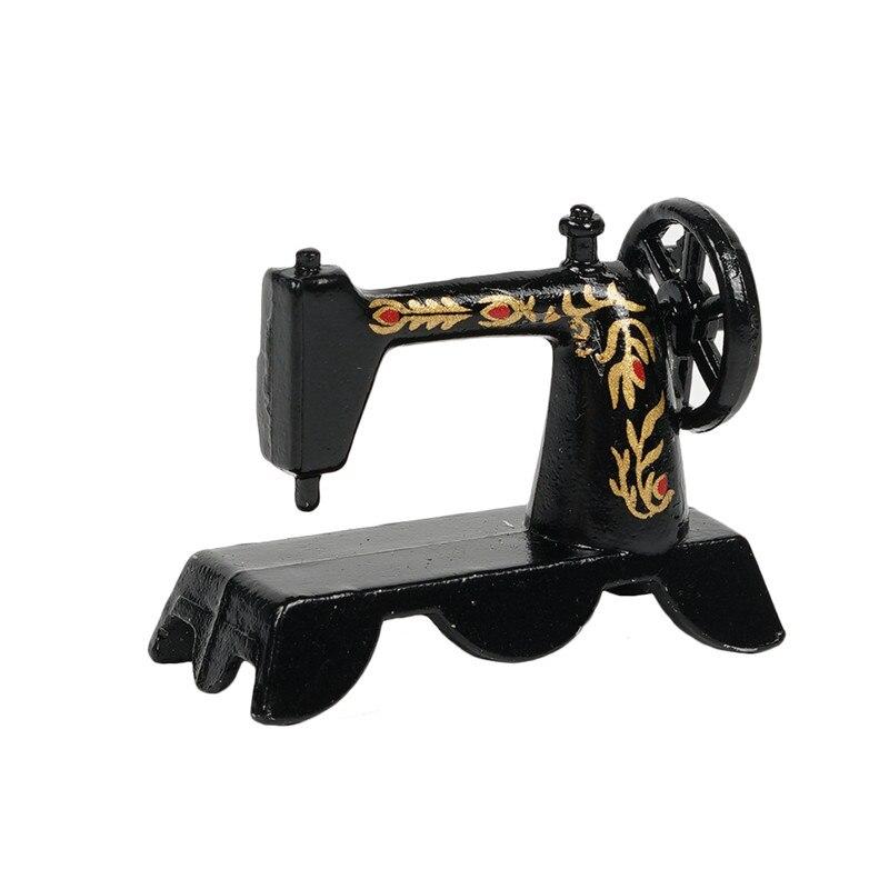 Dongzhur черная мини старомодная швейная машина кукольный домик миниатюрные 1:12 аксессуары подходит на стол кукольный домик Миниатюрная игрушка