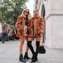 multicolor Frauen pelzmäntel kunstpelz langarm elegante frau mantel kragenlose pelzmäntel beiläufige winter bunte n8P0wkOX