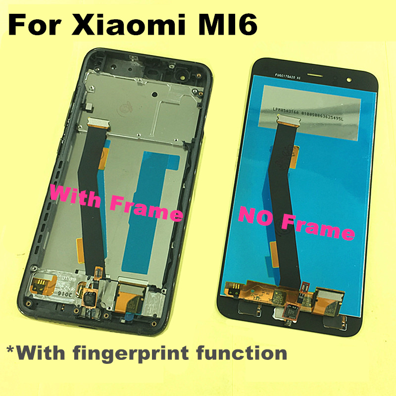 with Fingerprint recognition 5 15 FOR Xiaomi Mi6 Mi 6 LCD Display Touch Screen Digitizer Replacement