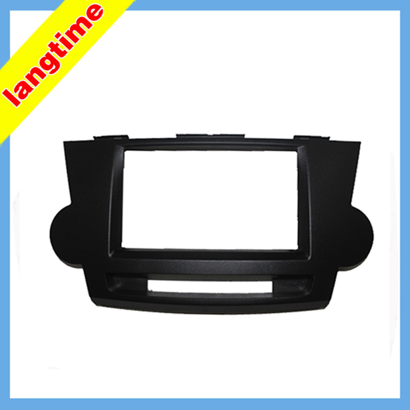Car refitting DVD frame,DVD panel,Dash Kit,Fascia,Radio Frame,Audio frame for Toyota Highlander , 2DIN
