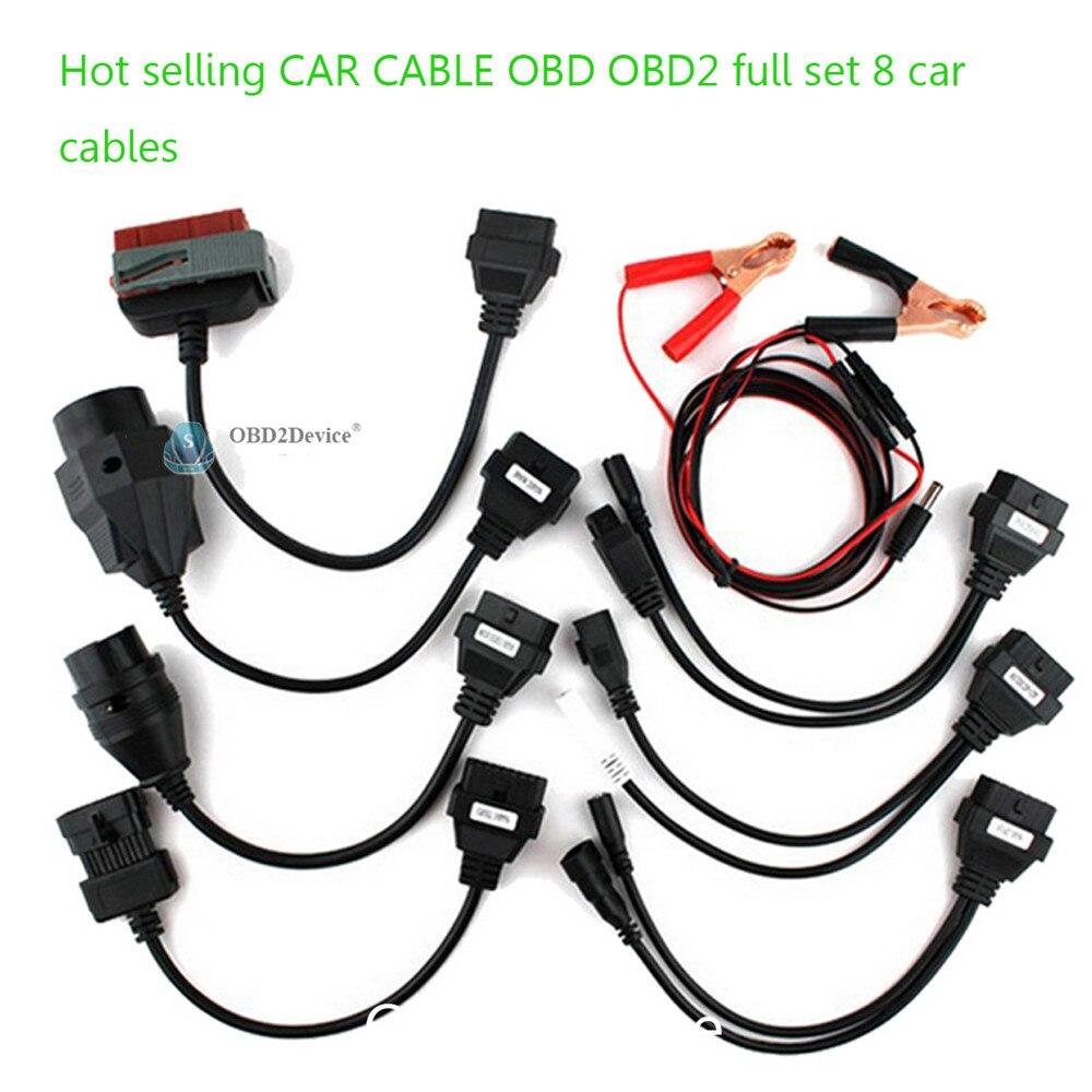 Prix pour Super Chaude 8 pcs par set OBD2 tcs Câbles Pour cdp pro de voiture câbles MVD et multidiag wow snooper usine directement vente