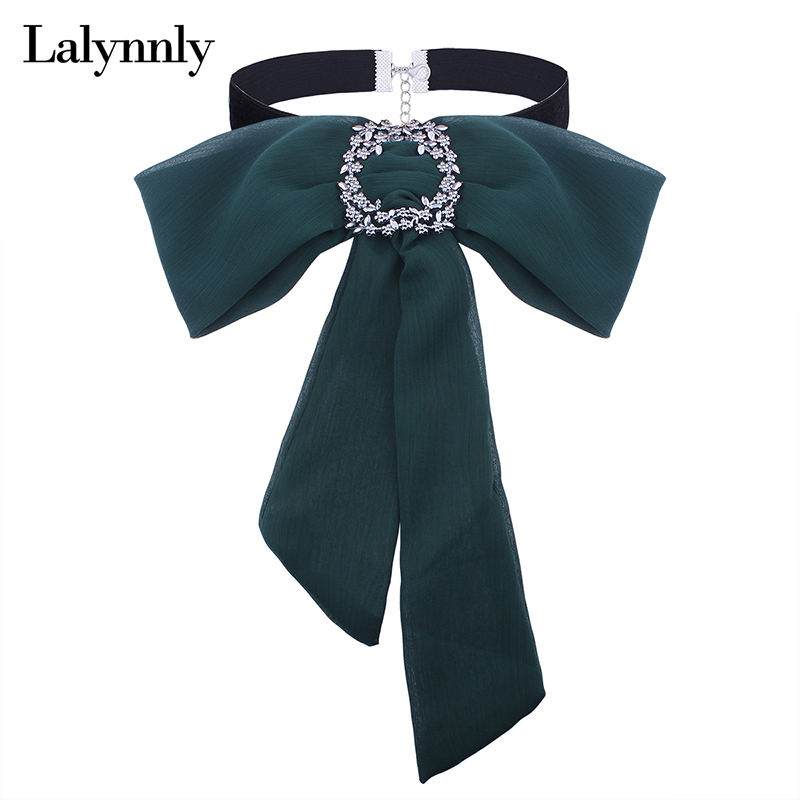 Lalynnly New Autumn Black Velvet Choker Necklace Chiffon Bow