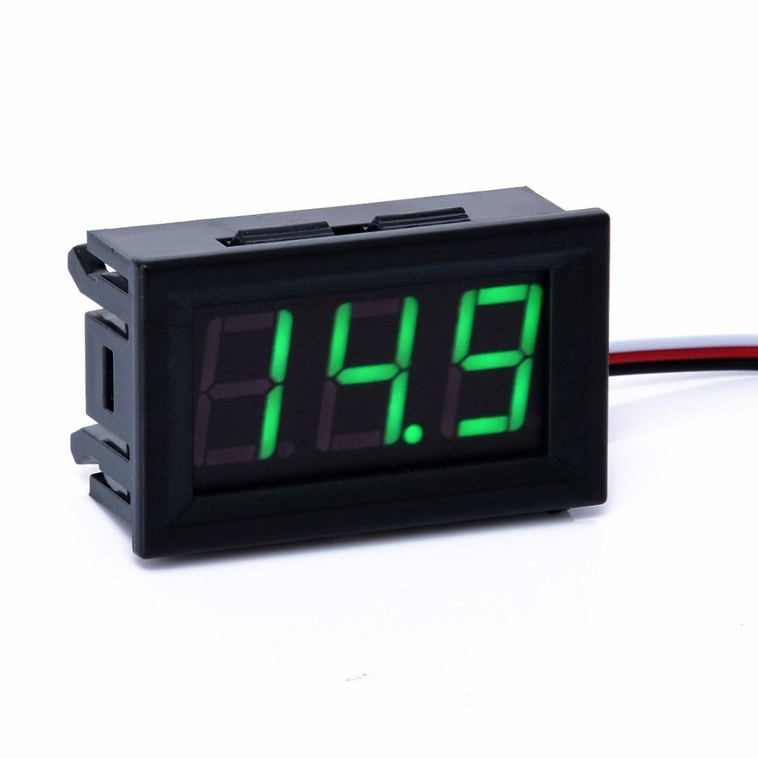 0.56 inch Wire 3 Digital Green LED Display Voltmeter Voltage Meter Panel Test DC 0-30V For Home Tool