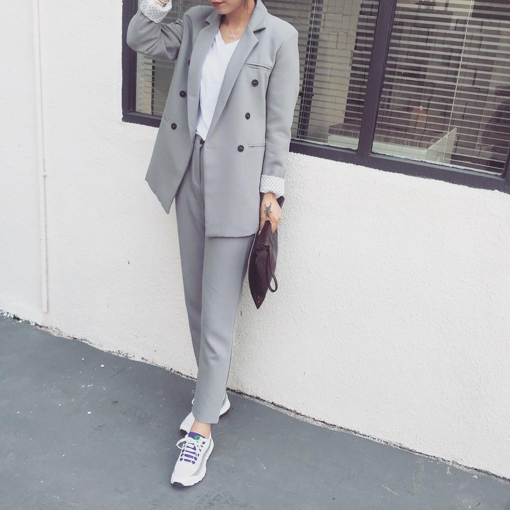 2015-Autumn-Women-s-Fashion-Suit-set-Nine-Points-Straight-Suit-Pants-FASHION-SET (1)