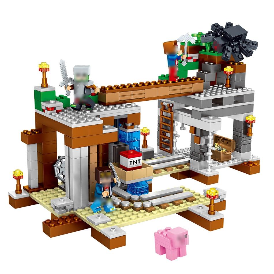 493pcs Compatible Legoe Figures Minecraft Building Block Bricks Style kits Educational toys hobbies for children 14 decool 3114 city creator 3in1 vehicle transporter building block 264pcs diy educational toys for children compatible legoe