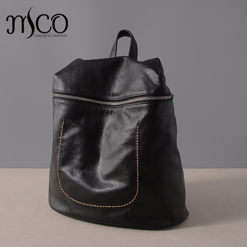 Teenagers Girls Genuine leather Backpack Natural Soft Backpacks Real Cow Leather Travel Shoulder Bag Women Backpack School Bags nice new casual girls backpack genuine leather fashion women backpack school travel bag teenagers girls cowhide shoulder bags