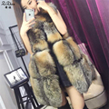 New Winter Genuine Fox Fur Vest Women's Full Pelt Waistcoat Warm Fashion Gilet 20151012-2