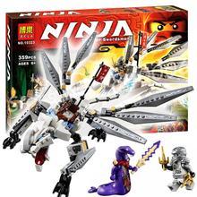 Bela 10323 Titanium Dragon Ninja Masters of Spinjitzu Ninja 360Pcs Building Kids Toys Gift Compatible With Lego