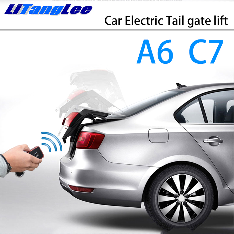 LiTangLee Car Electric Tail Gate Lift Trunk Rear Door Assist System For Audi A6 C7 4G 2011~2018 Original Car Key Remote Control