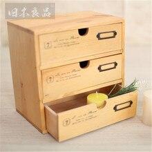 Классическая коробка для хранения мини три слоя шкаф ювелирные изделия косметический держатель организаторы дерево Craftwork кафе украшения дома L3049