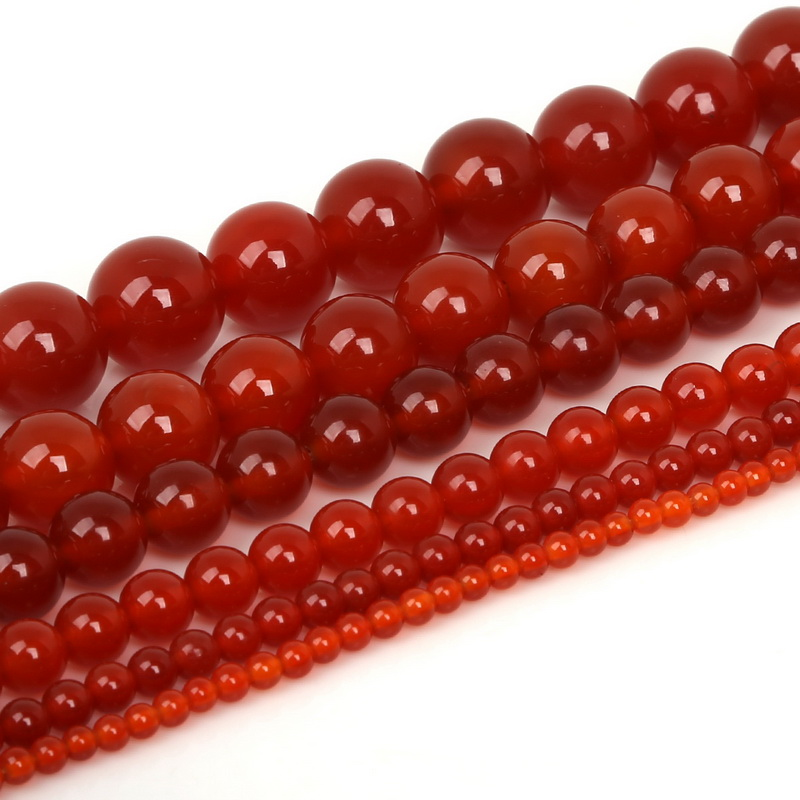 3 8 Red Stone : Mm selectable round natural stone beads red