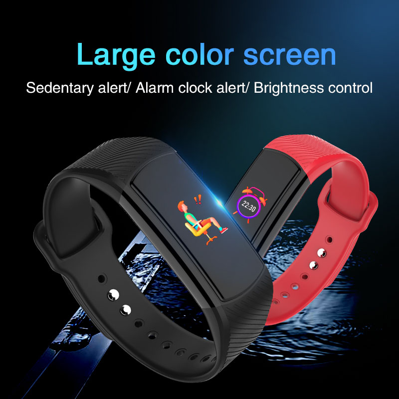 Smart sport bracelet 0 96 39 39 IPS colour screen Heart Rate Monitor fitness Tracker band Waterproof Smart Wristband for IOS Android in Smart Wristbands from Consumer Electronics