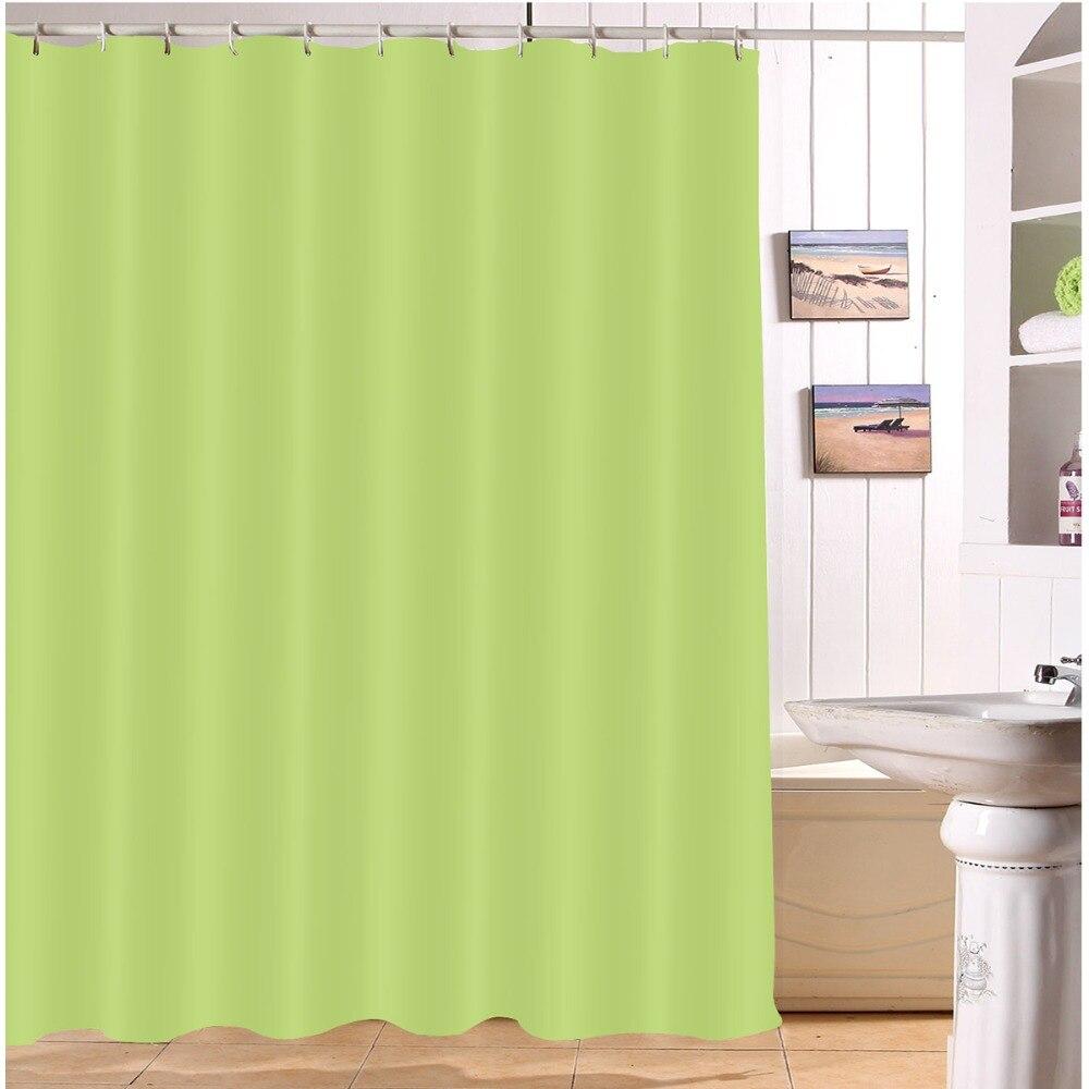 Lb Grass Green Eco Friendly Shower Curtains Solid Bathroom Curtain