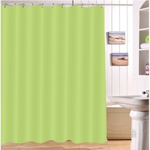 LB Grass Green Eco Friendly Shower Curtains Solid Bathroom Curtain Waterproof Polyester Fabric For Bathtub Home