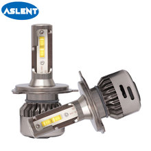 Aslent 2X H4 LED H7 Lens 55W/bulb 20000LM 6500K Canbus Error Free H11 H8 HB4 H1 HB3 9005 9006 Auto Car Headlight Styling lights