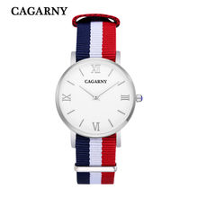 Fashion Women Watch Women Quartz Wristwatch Canvas Belt Ladies Dress Watch Women's Watches Reloj Mujer Montre Femme Cagarny New