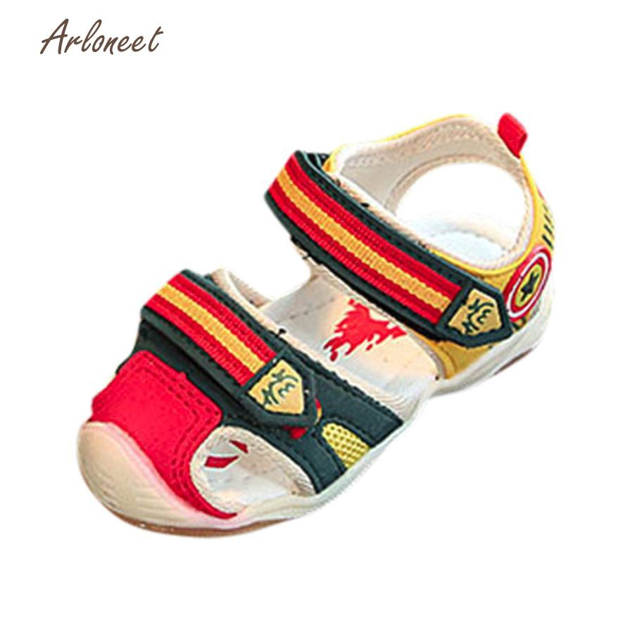 ARLONEET Sandals fashion sandalia infantil kids Light childrens shoes 2018 Sneaker Patchwork Boys Light Luminous Casual JAN8