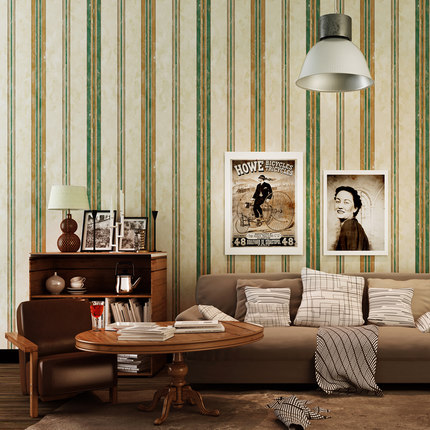 PAYSOTA American Style Vertical Striped Wallpaper Nostalgic Retro Bedroom Study Room Living Room Sofa TV Background Wall Paper junran america style vintage nostalgic wood grain photo pictures wallpaper in special words digit wallpaper for living room