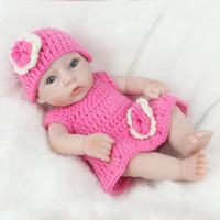28cm Silicone Reborn Baby Doll kids Playmate Gift Toys For Girls reborn Dolls wear knitting Clothes Bathable Bebe Reborn