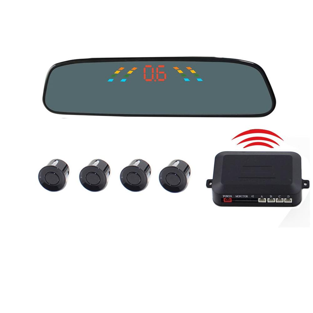 Wireless Lcd Mirror Screen Parking Sensor Car Rear View