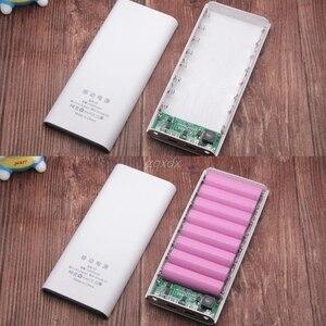 Image 4 - USB הכפול 8x18650 סוללה DIY מחזיק LCD תצוגת כוח בנק מקרה תיבת עבור iphone