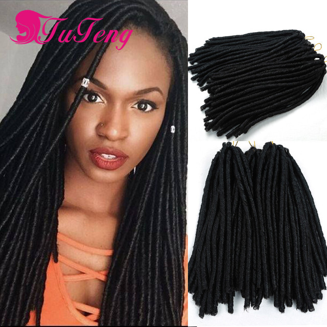 Faux Locs Crochet Hair 14 Inch Dreadlock Extensions Top Quality