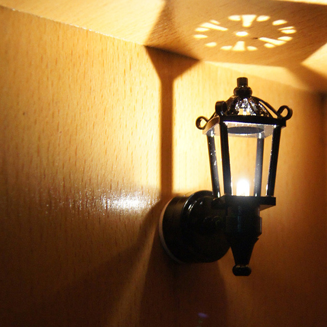 mini retro 112 poppenhuis miniatuur wandlamp poppenhuis led verlichting accessoires speelgoed zonder