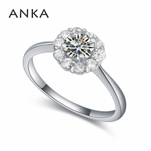 ANKA vintage round zircon shape rings with rhodium plated luxury classics fashion jewelry rings gift for women girl #17430