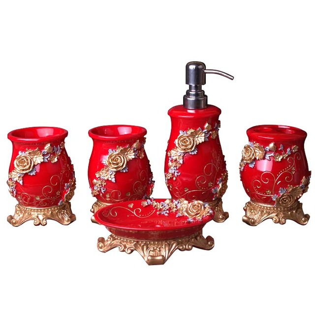 https://ae01.alicdn.com/kf/HTB1_5cNfosIL1JjSZPiq6xKmpXa3/Five-sets-China-Red-Bathroom-Products-Resin-Bath-Lotion-Bottle-Toothbrush-Holder-Soap-Dish-Household-Items.jpg_640x640.jpg