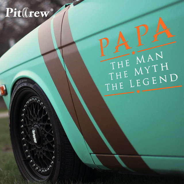 1pc 2015cm papa the man myth legend vinyl car stickers car styling personalized auto