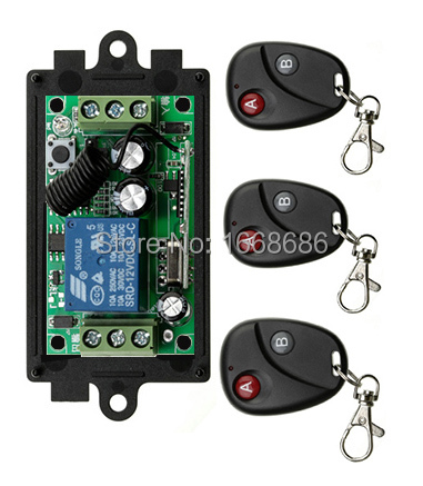 2015 New DC12V 1CH RF Wireless Remote Control Switch System Transmitter with Two button Receiver Smart