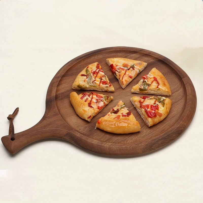 Acacia Wood Pizza Peel luxusní pádlo pro pečení domácí pizza a chléb pro sýr prkénko jídlo / ovoce zásobník