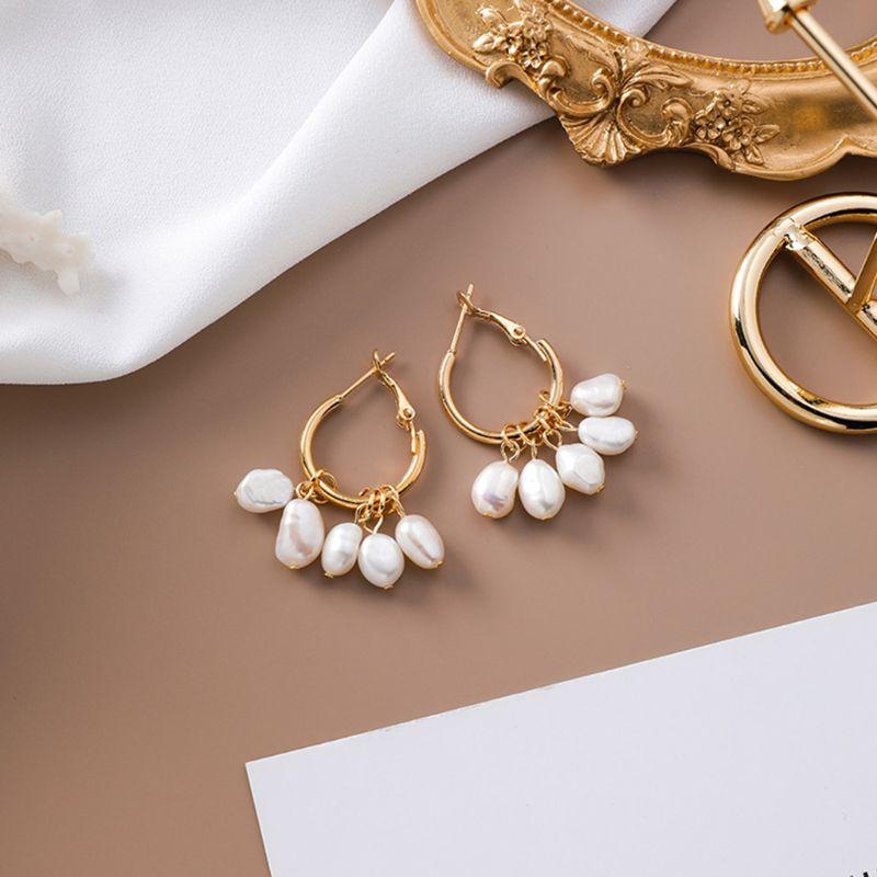 Women Earring Temperament Charm Ladies Artificial Pearl Tassel Earrings Simple Wild Ear Jewelry Gifts in Drop Earrings from Jewelry Accessories