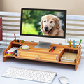 Actionclub Computer Monitor Stand Houten Desktop Monitor Stand Riser Holder Desk Notebook Stand Organizer Storage Box Case