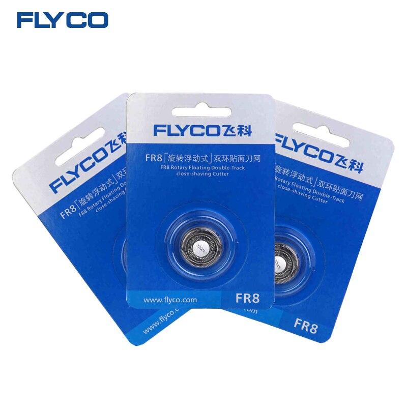 FLYCO máquina de afeitar eléctrica original Superior de reemplazo hoja de cuchilla de afeitar la cabeza para hombres 3 unids FR8 apto para FS339 FS376 FS372 FS867