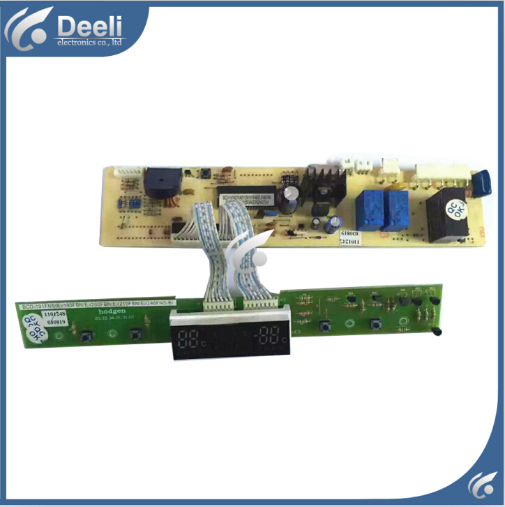 90% new good working for  refrigerator pc board circuit board motherboard BCD-191FNS BCD-200FBN 2pcs/set 95% new for refrigerator computer board circuit board bcd 559wyj z zu bcd 539ws nh driver board good working