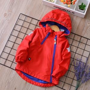 Image 5 - עמיד למים אופנה ברדס כותנה ילד מעיל תינוק בנות בני מעילי מודפס פליס ילדי הלבשה עליונה עבור 2 9 שנים ישן