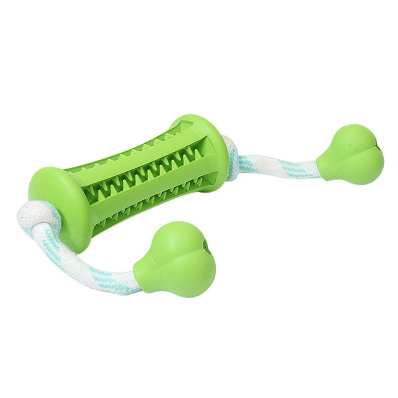 Pet Dogs Chew Rubber Toys through Rope Resistant  Bite Interactive Toy Dog to Clean Tooth