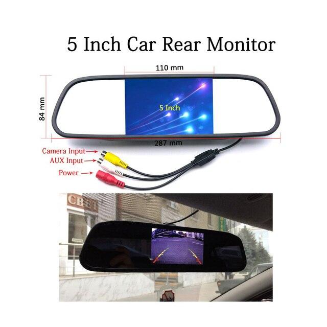 سيارة TFT LCD رصد 5 بوصة HD مرآة الرؤية الخلفية عرض DC12V 24 فولت عكس شاشة السيارة وقوف السيارات صورة احتياطية العرض 5