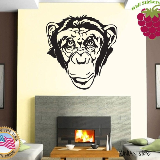 Cute Animals Wall Decals Monkey Sticker For Nursery Kids Baby Bedroom Home Decoration Art Mural
