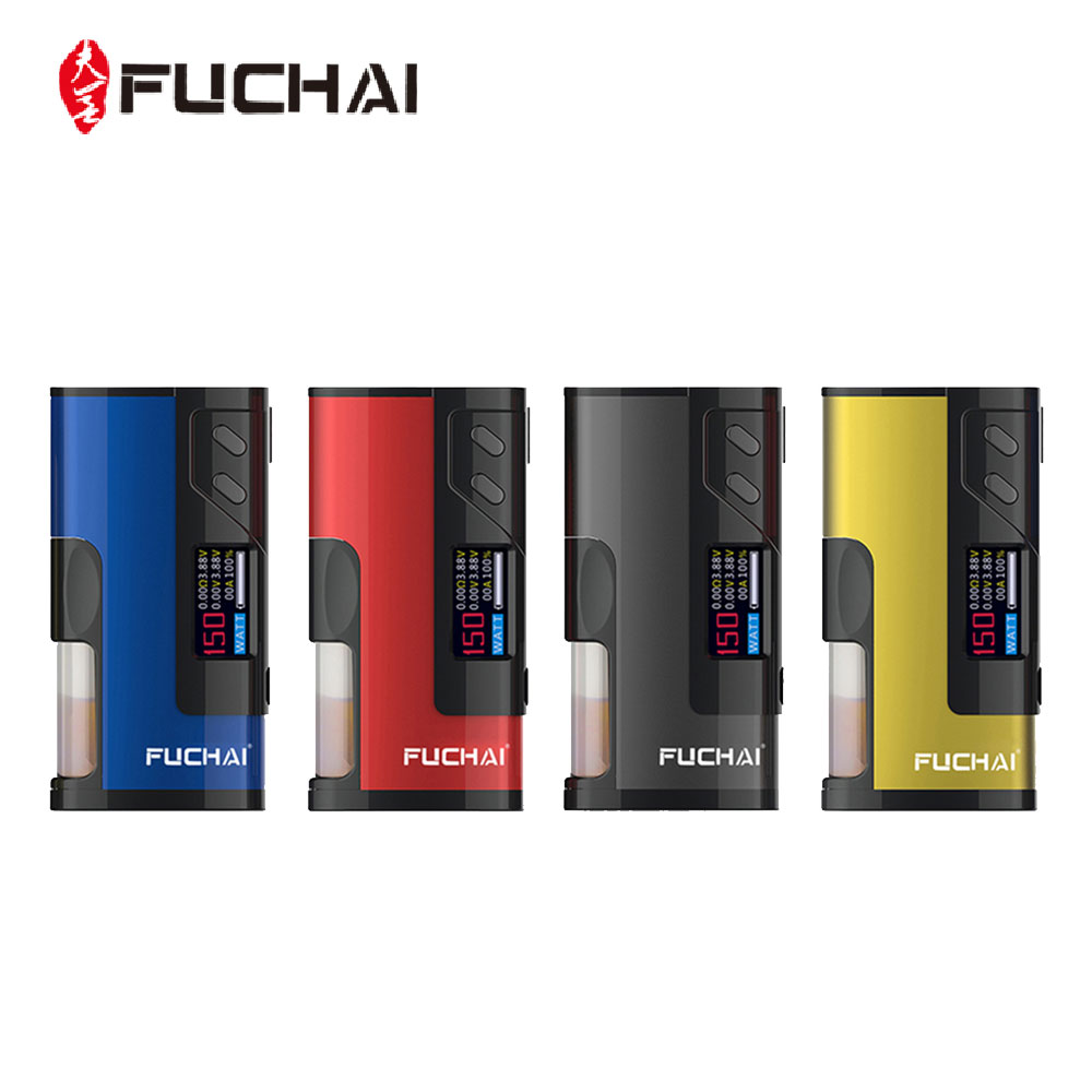 Original 150W Fuchai Squonk 213 VW MOD with 0.96 Inch TFT Color Screen Max 150W Output Huge Power No 18650 Battery Vape Box Mod sigelei fuchai 213 mod newest 100