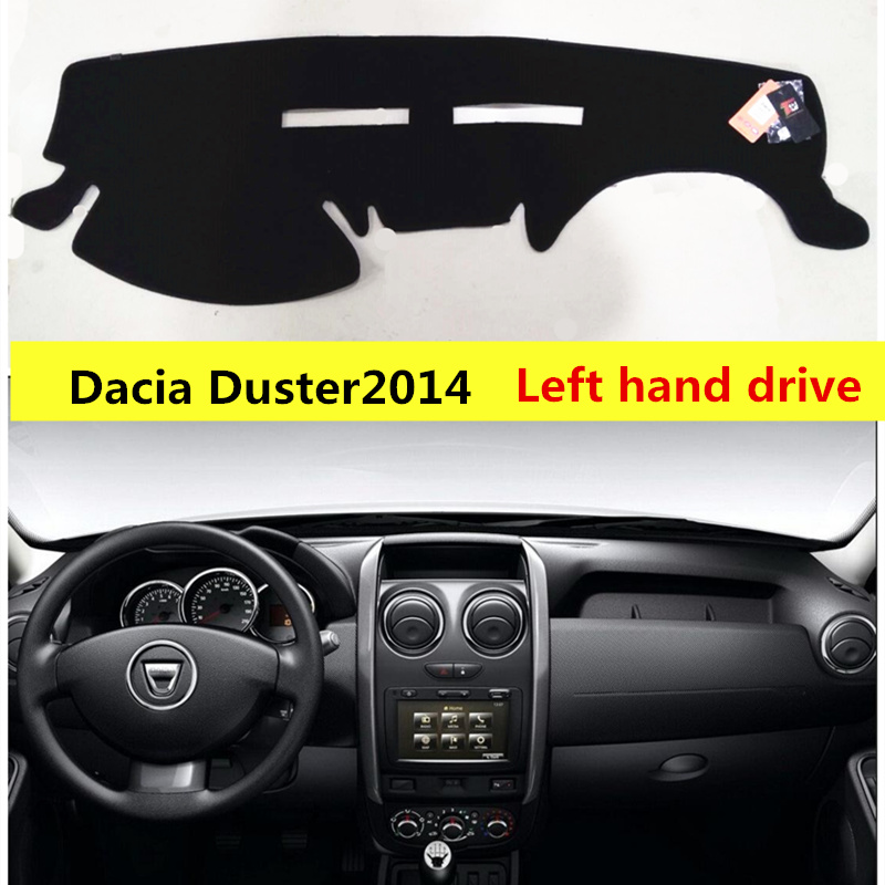 Taijs car dashboard protective mat for Dacia Duster 2014-2017 Left hand drive Auto dashboard rug cover for Dacia Duster
