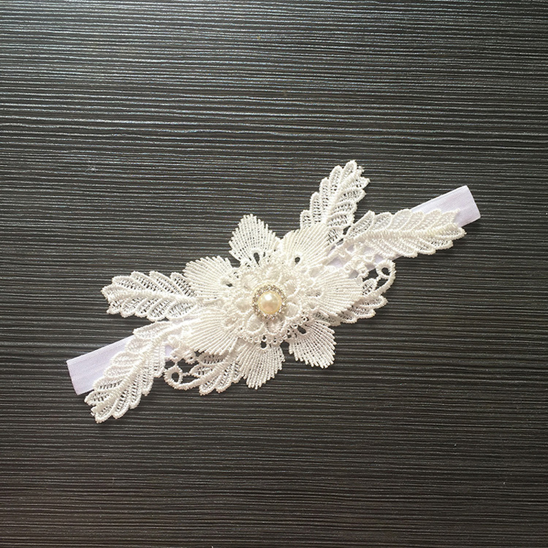 Creative Bride Garter Lace Pearl Flowers Women's Sexy