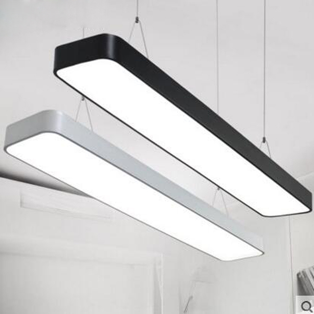 Led office chandeliers strip lights rectangular studio supermarkets led office chandeliers strip lights rectangular studio supermarkets shops internet cafes industrial style chandeliers led light aloadofball Image collections