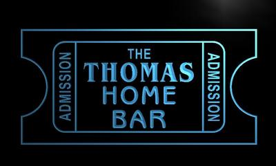 x1012-tm Thomas Home Bar Cinema Custom Personalized Name Neon Sign Wholesale Dropshipping On/Off Switch 7 Colors DHL
