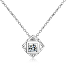 Everoyal Charm Silver 925 Girls Choker Necklace Jewelry Vintage Crystal Cube Women Pendant Necklace For Lady Accessories Female everoyal trendy girls silver 925 choker necklace jewelry vintage crystal crown pendant necklace for women wedding accessories