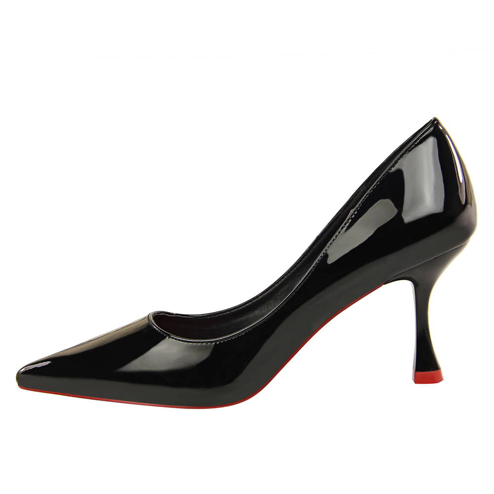 Brand Elegant OL Women Pumps Simple High-heeled 7.5cm Thin Black Pink Office High Heel Shoes Pointed Toe Zapatos Mujer new hollow pointed stiletto elegant spring summer women pumps sweet bowknot high heeled shoes thin pink high heel shoes k88